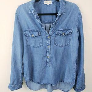 Cloth & Stone Blue Chambray Two Pocket Shirt